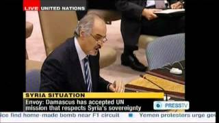 Syria - Al Jaafari speech - UN Resolution 14 April 2012 - Military Observers to Monitor Cease-fire