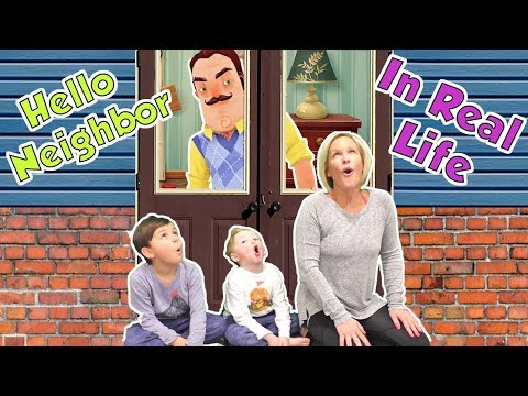 Hello Neighbor in Real Life in the Frozen Dark! | DavidsTV thumbnail