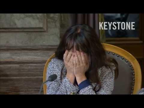 Lachanfall im Ständerat - lachen - Géraldine Savary - Parlament - swiss parlamentarian laughs