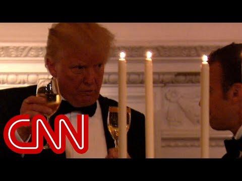 Hear Trump's toast to President Macron