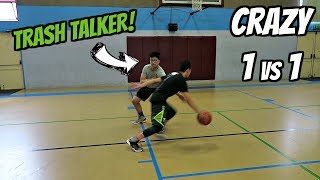 One of Hoop And Life's most viewed videos: CRAZY 1vs1 TRASH TALKER FOR AIR JORDANS!