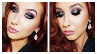 Black & Purple Edgy Holiday Makeup Look Thumbnail