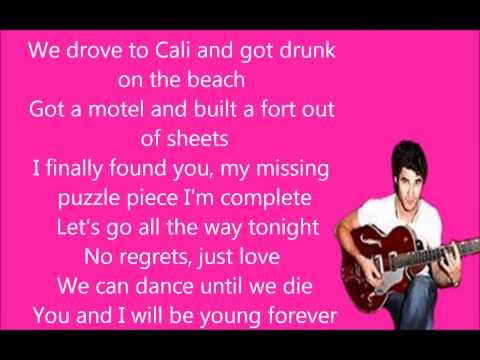 Glee Teenage Dream Lyrics
