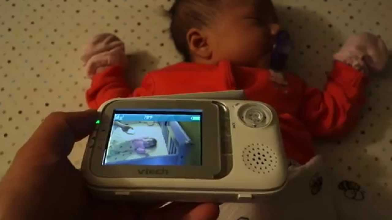 vtech pan tilt video baby monitor vm333 review youtube. Black Bedroom Furniture Sets. Home Design Ideas