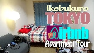 Airbnb Apartment tour in Ikebukuro, Tokyo, Japan.