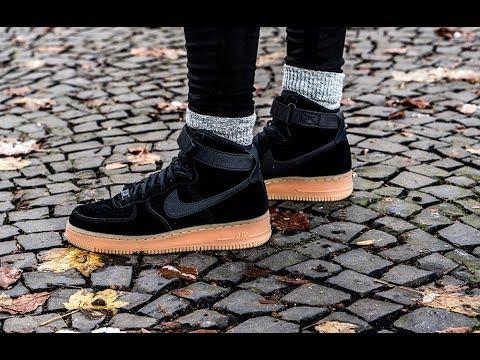 On Feet Nike Air Force 1 High Black 99kicks Youtube
