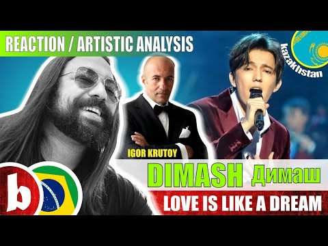 DIMASH Димаш! Love Is Like A Dream - Reaction Reação & Artistic Analysis (SUBS)