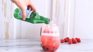 Raspberry Rhubarb Bellini Smoothie w  Blueberries Virginor not so Virgin HD