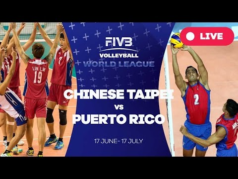 Chinese Taipei v Puerto Rico - Group 3: 2016 FIVB Volleyball World League