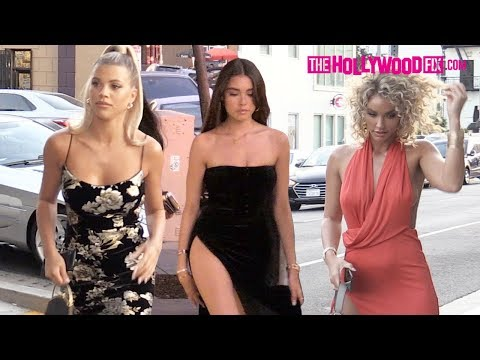 Sofia Richie, Madison Beer & A Squad Of Models Arrive To The Abyss By Abby Party In Hollywood 9.4.19