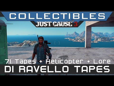 Just Cause 3 - All 71 Di Ravello Tapes Location Guide (Golden Urga Mstitel Helicopter)