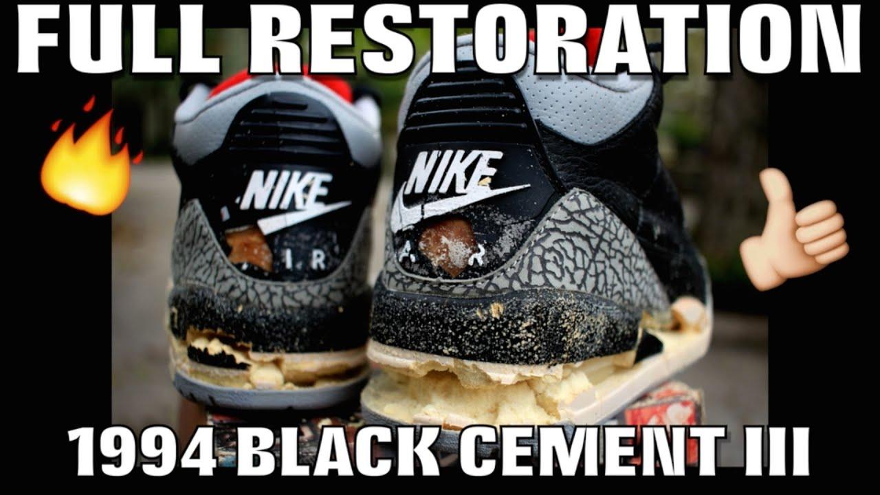 b2b56c05645066 OG 1994 BLACK CEMENT III FULL RESTORATION! - YouTube