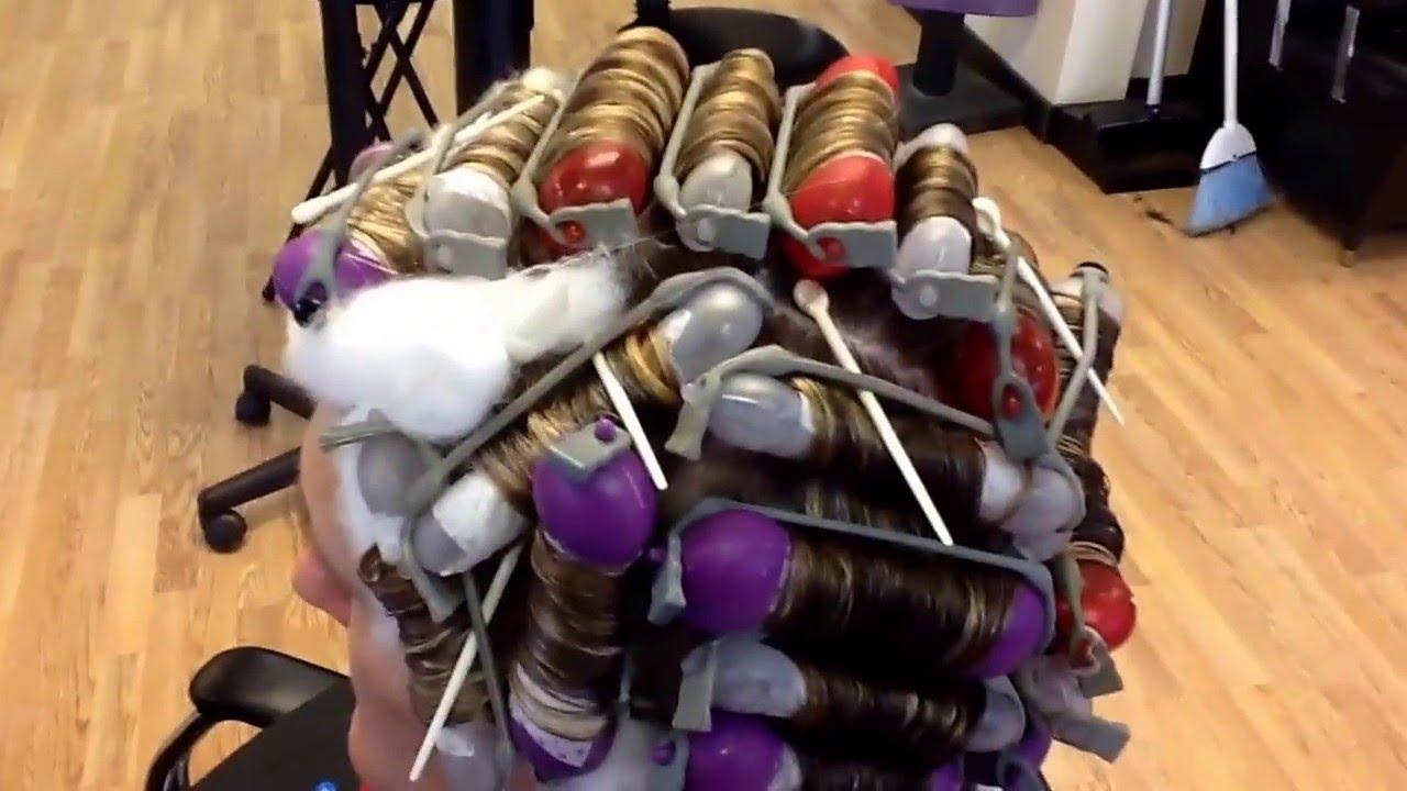 Olaplex Perm On Highlighted Hair Using Carver European Perm Rods