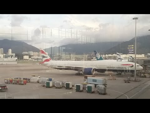 🔴  Hong Kong Airport British Airways G-STBF