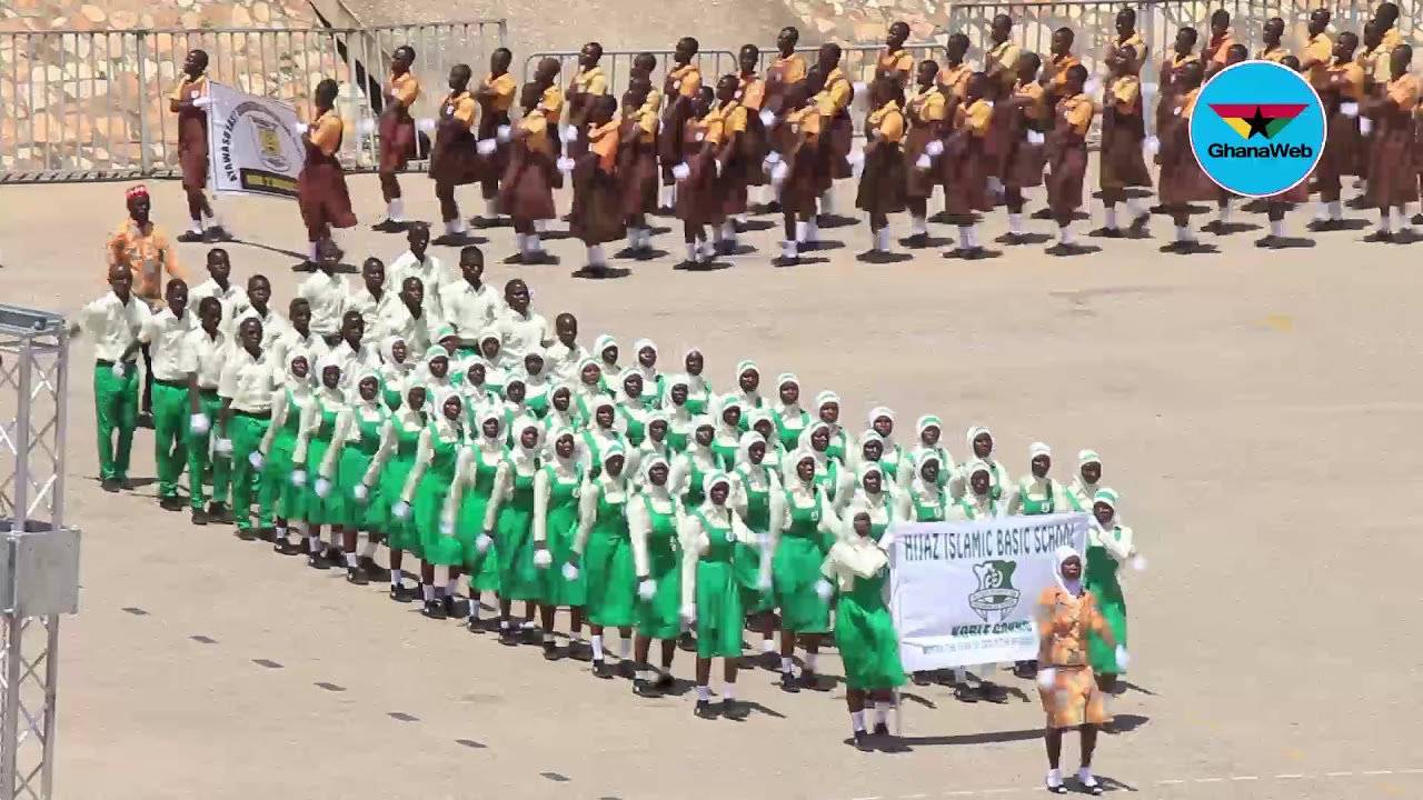 61st Independence Parade: March past by school children and Interest groups