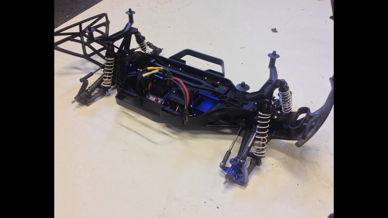 Traxxas Slash 4x4 how to convert to LCG detailed level 1 upgrade