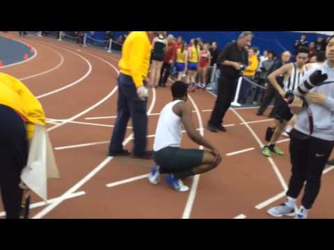 Mario Heslop Of Franklin Wins The Boys CJ Group 4 400 And Then Crashes To The Track After He Finishe
