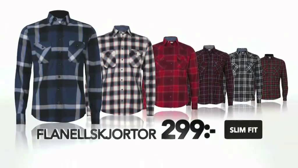 flanellskjorta slim fit