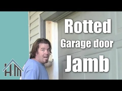 How To Repair A Garage Door Jamb Rotted Wood Easy Home