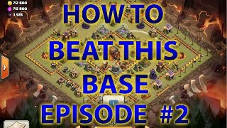 Clash Of Clans - How To Beat This New Popular Townhall 10 (TH10) War/Legends League Base - 275 Walls