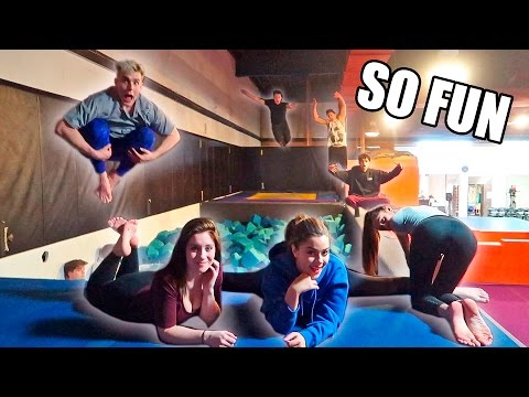Thumbnail: 24HR SUPER TRAMPOLINE PARK TO OURSELVES (BOYS VS. GIRLS)