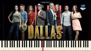 Dallas - TV Theme Tune - Synthesia Piano Tutorial