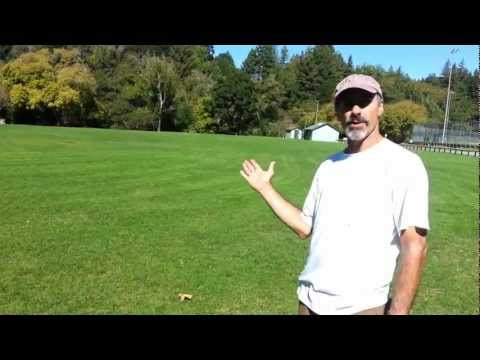 The Roller Master attempts to explain proper technique for roller shots in disc golf