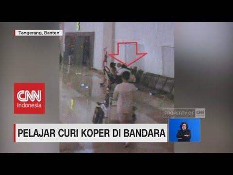 Pelajar Curi Koper di Bandara Terekam CCTV