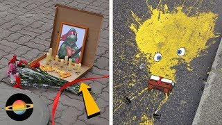 10 kreatywnych przykładów sztuki ulicznej + KONKURS (Wygraj Playstation 4)