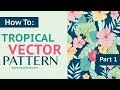 LIVE How To Draw Vector Tropical Leaves and Flowers Directly In Adobe Illustrator + Giveaway Winner