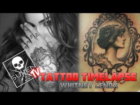 Tattoo Time Lapse - Whitney Lenox - Tattoos Vintage Mirror on Mike Vallelys Daughter