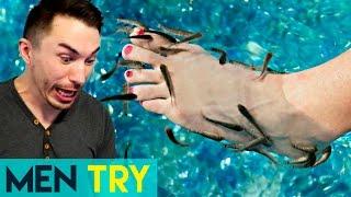 Men Try Fish Pedicures