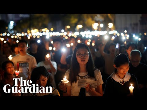 Candlelight vigil held in Hong Kong to mark Tiananmen Square massacre