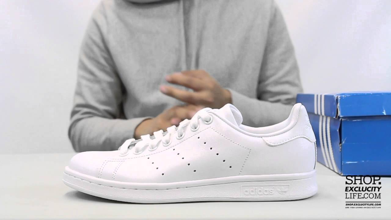 nouveau style 5c5b4 f27f1 Adidas Stan Smith White - White Unboxing Video at Exclucity