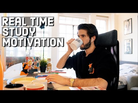 REAL TIME Study With Me (no Music): 10 HOUR Productive Pomodoro Session | KharmaMedic