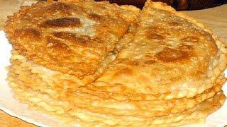 Рецепт чебуреков. | Recipe chebureks.