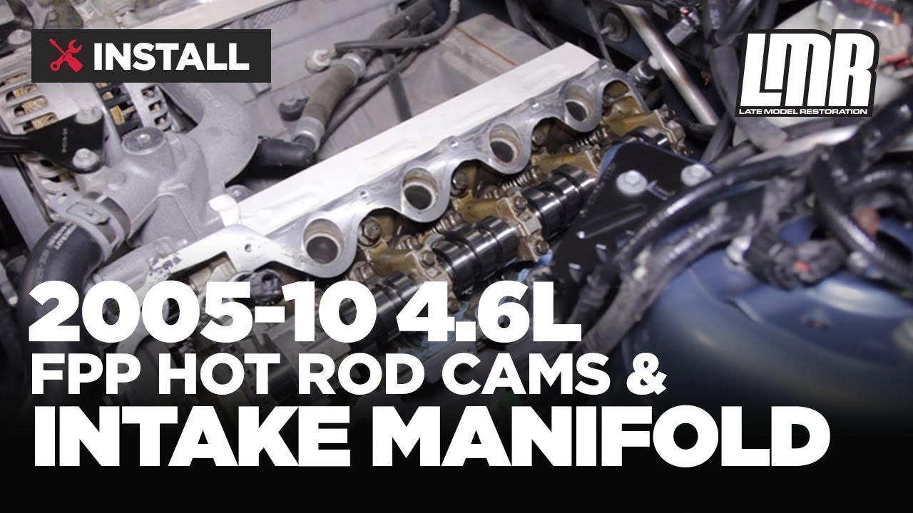 medium resolution of mustang gt ford racing hot rod cam intake manifold install 05 10 4 6l