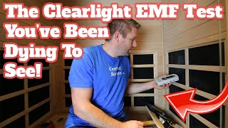 Clearlight Infrared Sauna Review - Low EMF Testing - Premier IS-2 Model - Low Electric Fields