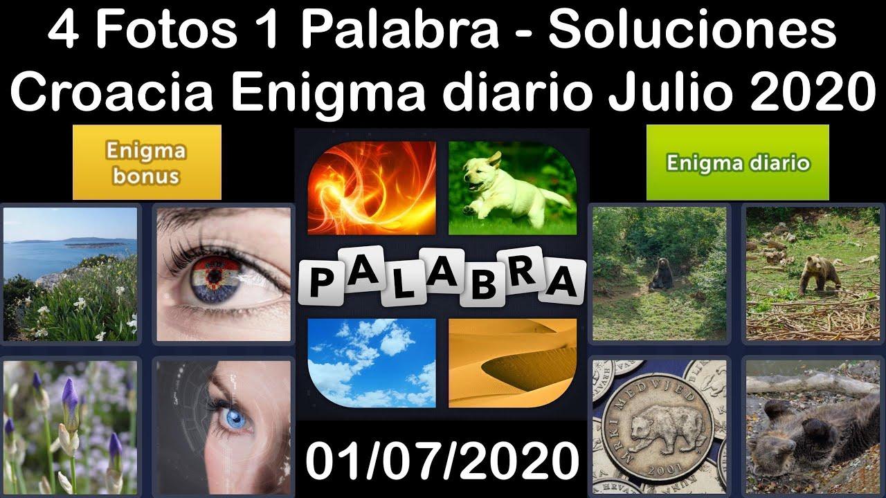 4 Fotos 1 Palabra - Croacia - 01/07/2020 - Julio 2020 - Enigma diario + Enigma bonus - Solucion