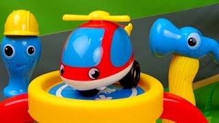 Мультики про машинки - Вертолетик и Вертолетная площадка