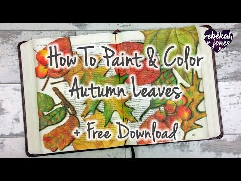 Watercolor And Colored Pencil Tutorial - Bible Art Journaling Challenge Lesson 43