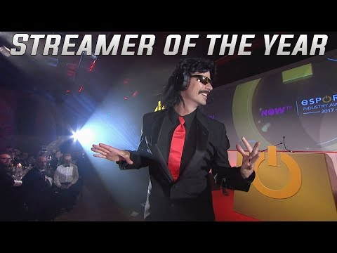 Esports Industry Awards 2017 - STREAMER OF THE YEAR | DrDisrespect won streamer of the year award