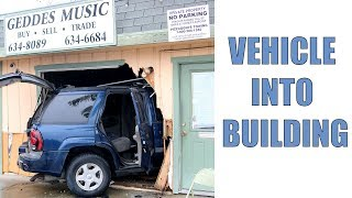 Vehicle Crashes into Building in Brentwood