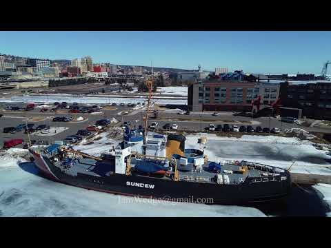 USCGC Sundew Buoy tender in Duluth, Minnesota (Drone Video)
