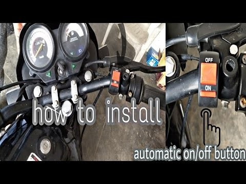how to install automatic switch on / off button in 100cc bike must watch