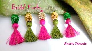 | DIY | How To Make Designer Bridal Saree Kuchu / Tassels At Home In A Very Easy Way | Tutorial |