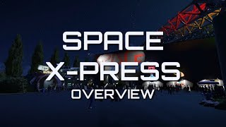Planet Coaster - Space X-press - Ride Overview