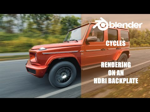 Blender 2.81 Cycles - HDRi Backplate Rendering Tricks (G - Wagon Extras)
