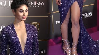 Mouni Roy Looks Damn Beautiful in Purple Dress at Vogue  Beauty Awards