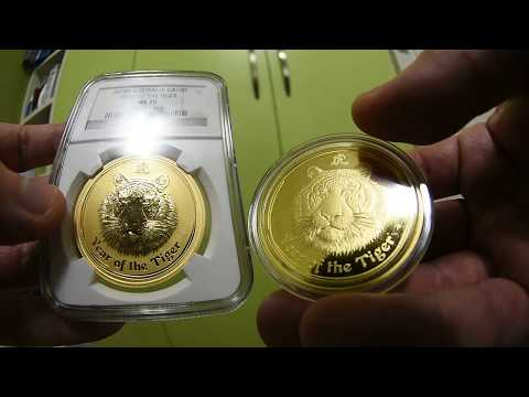Australian Gold perth mint australia lunar coin TIGER PROOF vs Bullion!!! NEW HOT!!